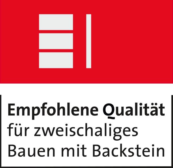 empfohlene Qualität für zweischaliges Bauen mit Backstein